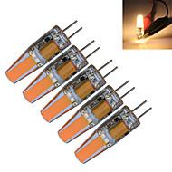 1.5W G4 Luzes de LED em Vela T 1 COB 190-210 lm Branco Quente / Branco Frio Decorativa DC 12 / AC 12 V 5 pçs