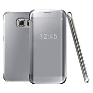 Clear View Flip Case UV Mirror PC Hard Phone Cover Smart Case For Samsung Galaxy S7 +/S7 Edge/S7/S6 Edge +/S6 Edge/S6