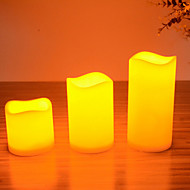 bougies LED fixées pour l'anniversaire de fête de noël de trois bougies de taille s / m / l différent