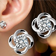 Σκουλαρίκι Flower Shape Κουμπωτά Σκουλαρίκια Κοσμήματα 1pc Πετράδια σχετικά με τον μήνα γέννησηςΓάμου / Πάρτι / Καθημερινά / Causal /