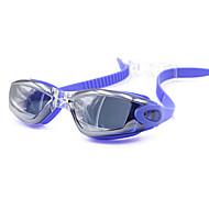 Swimming Goggles Unisex Waterproof Silica Gel PC Gray / Black / Blue / White Red / Gray / Black / Blue / Dark Blue / Purple