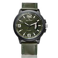 V6 Muškarci Ručni satovi s mehanizmom za navijanje Kvarc Kalendar Koža Grupa Crna Smeđa Zelena Crn Braon Zelen