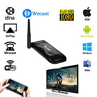 wecast plus dubbla band 2.4G 5g mirascreen ota TV Stick dongle för iphone 6s / galax s6 android ios Windows OS