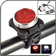 Belysning Sykkellykter LED 240 lumens Lumens 4.0 Modus - Lithium Batteri Vandtæt / Oppladbar / Night Vision Sykling Gummi / ABS
