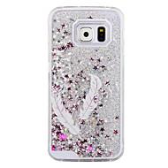 de zwaluw veren patroon fonkelingssterren drijfzand vloeibare pc harde telefoon geval voor Samsung Galaxy S4 / S5 / s6 / s6 rand