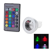 R2 GU10 3W 200lm 1-COB LED RGB Light Bulb Lamp -(AC 85~265V)
