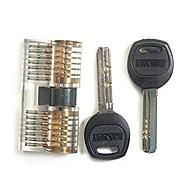 professionale spaccato visibile della serratura sfida per l'abilità di formazione con 2 chiavi e 2 teste
