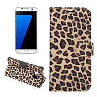 Για Samsung Galaxy S7 Edge Πορτοφόλι / Θήκη καρτών / με βάση στήριξης / Ανοιγόμενη tok Πλήρης κάλυψη tok Λεοπάρ Συνθετικό δέρμα SamsungS7