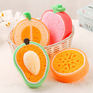 esponja de frutas de limpeza em forma (cor aleatória)