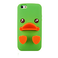 Cartoon Ducks Silica Gel Protective Sleeve Back Case for iPhone5/5S