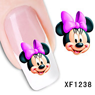 11sheets  Mixed Cartoon  Flower Water Transfer Sticker Nail Art DIY Beautiful STZ Mickey11