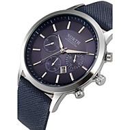 Hommes Bracelet Montre Quartz Calendrier Cuir Bande Noir / Bleu / Marron Marque-