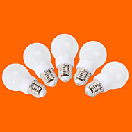 5 pcs fsl E26/E27 3W 9 SMD 3528 240 lm Warm White / Cool White G60 Decorative LED Globe Bulbs AC 220-240 V