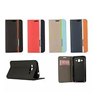 Na Samsung Galaxy Etui Etui na karty / Z podpórką / Flip Kılıf Futerał Kılıf Jeden kolor Skóra PU SamsungTrend Duos / Grand 2 / Core