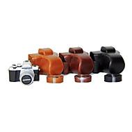 올림푸스의 E-M10 마크 II EM10의 MARK2를위한 어깨 끈 (모듬 색상)와 dengpin® PU 가죽 카메라 케이스 가방 커버