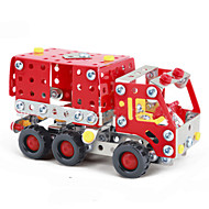 Jigsaw Puzzles 3D Puzzles / Metal Puzzles Building Blocks DIY Toys Truck 183 Metal Red Model & Building Toy