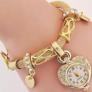 Damskie Dziecięce Modny Zegarek na nadgarstek Zegarek na bransoletce Kwarcowy Kryształ górski sztuczna Diament Stop PasmoPostarzane Heart