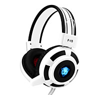 Yoro f15 gaming headset stereo støyreduserende med mikrofon& volumkontroll ledet lys for pc / notebook / laptop