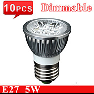 10PCS MORSEN®5W High Quality GU10 E27 Dimmable Aluminum Bulb Light LED Spotlight  lamp Cold/Warm White Cup light Bulbs