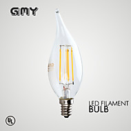 1 pcs GMY E12 3.5W 4 COB ≥350 lm Warm White CA10 Dimmable / Decorative LED Candle Lights AC120V 2700K Clear