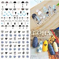Naklejki na panzokci 3D / Biżuteria na paznokcie-Zwierzę-Palec-PVC-6.6*7.2-1pcs