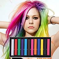 12 עפרונות צבע זמני גיר עבור פסטלים לצבוע את השיער רעיל שיער מקל סטיילינג כלי DIY
