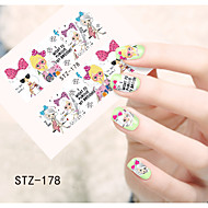 1pcs  Water Transfer Nail Art Stickers Beautiful Girl and lady Image Nail Art Design STZ176-180
