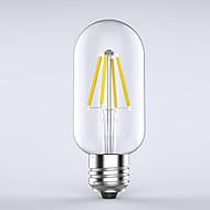 1 pcs kwb E26/E27 3W / 4W 4 COB 400 lm Warm White T edison Vintage LED Filament Bulbs AC 220-240 V