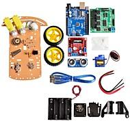ny undgåelse sporing motor intelligente robot bil chassis kit hastighed encoder batteri box 2wd ultralyd modul til Arduino kit