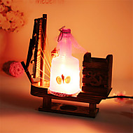 Creative Wood Drift Bottle Light  Sailing Lamp Decoration Desk Lamp Bedroom Lamp Gift for Kid(Assorted Color)