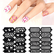 2016 New 1pcs Hollow Nail Art Stamping Template Stickers Reusable Stamp Stencil Guide DIY Nail Decal Decoration Tools