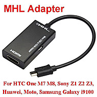 1080p mhl micro usb hdtv-Kabel-Adapter für Galaxie S2 i9100 i9220 ein m7 m8 xperia z1 z2 z3 Handy schwarz hdmi