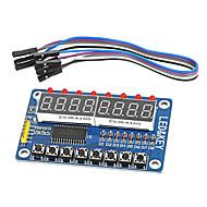8 bites vezetett 8 bites digitális cső 8 gomb tm1638 kijelző modul AVR Arduino kar