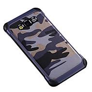 Für Samsung Galaxy Hülle Stoßresistent / Muster Hülle Rückseitenabdeckung Hülle Tarnfarben PC Samsung S7 / A9 / A8 / A7 / A5