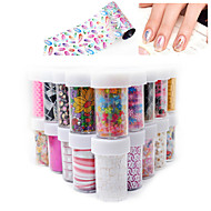 3D Star/Lace/Flower stickers for nails Nail Art Foil Stickers Flower Nail Decals Tips Manicure Tool Popular