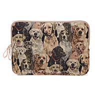 macbook hava 11.6 / 13.3 macbook 12 macbook pro / 13.3 için sevimli köpek tasarım tuval dizüstü bilgisayar kol çantası ultrabook durumda