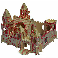Jigsaw Puzzles 3D Puzzles Wooden Puzzles Building Blocks DIY Toys Castle Wood Beige Model & Building Toy