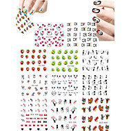 11pcs Lovely Cartoon  Animal  Mickey Cat Expression Water Transfer Nail Art Stickers