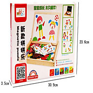 Wooden Children Spell Le Magnetic Double-Sided Drawing Board Puzzle  Magic Board