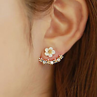 Cute Flower Stud Earrings for Work Casual(Gold/Rose Gold/Silver)