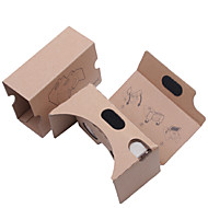 DIY pap virtual reality 3d glasses vr tookit (opgraderet version 34mm objektiv)