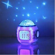 csillagos ég digitális led vetítés projektor ébresztőóra naptár hőmérő