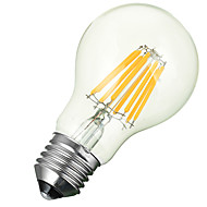 Marsing E27 8W 600lm 3000-6500k Warm/Cool White Globe LED Filament Lamp Bulb - White + Yellow (AC 85~265V)