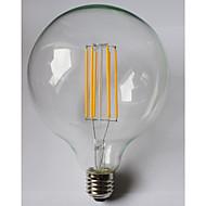 1 stk. kwb E26/E27 10W 8 COB 1000 lm Varm hvid / Ravgul G125 edison Vintage LED-glødetrådspærer AC 85-265 V