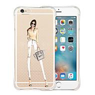 For Etui iPhone 5 Gjennomsiktig Etui Bakdeksel Etui Sexy dame Myk Silikon iPhone SE/5s/5