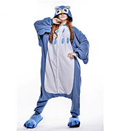 Kigurumi Pajamas New Cosplay® / Owl Leotard/Onesie Halloween Animal Sleepwear Blue Patchwork Polar Fleece Kigurumi UnisexHalloween /