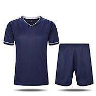 남성의 축구 셔츠 + 반바지 의류 세트/수트 통기성 빠른 드라이 수분 투과율 높은 호흡 능력(>15.001g) 봄 가을 클래식 나이론 탁텔 운동&피트니스 레저 스포츠 농구 축구 옐로우 화이트 그린 블루