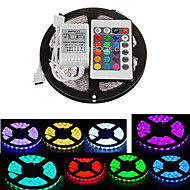 ZDM™  5M Waterproof 300X5050 SMD RGB LED Strip Light  IP65 with 24Key Remote Controller (DC12V)