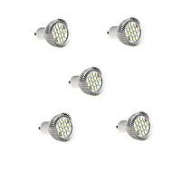 5PCS는 8w GU10 16xsmd5630 650lm 따뜻한 / 차가운 백색 빛이 빛이 스포트 라이트 LED 전구 hry® (AC85-265V)