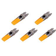 6W G9 LED Bi-pin 조명 T 2 COB 500-700 lm 따뜻한 화이트 / 차가운 화이트 장식 AC 220-240 V 5개